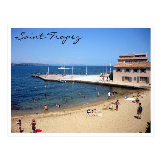 saint tropez beach postcard