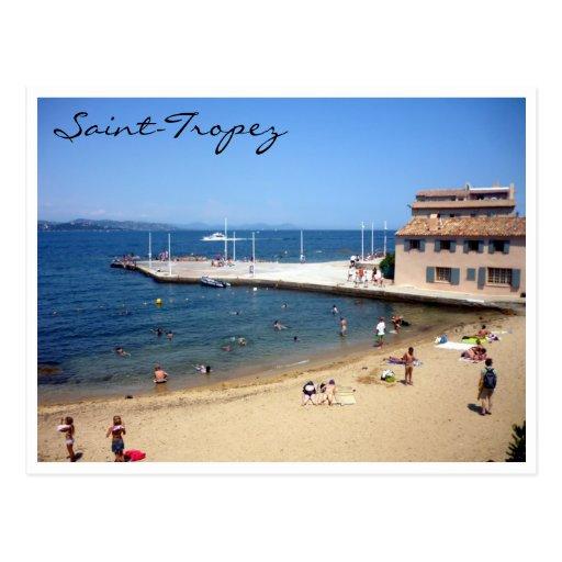 saint tropez beach postcards
