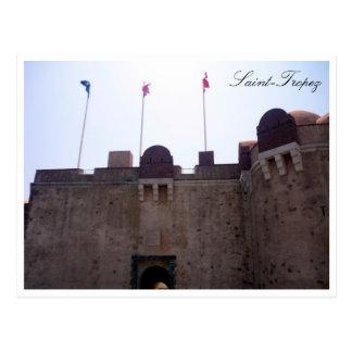 saint tropez citadel flags postcard