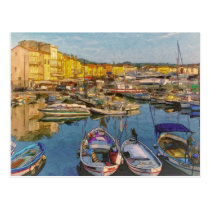 Saint Tropez  France Postcard