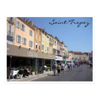 saint tropez harbor front postcard