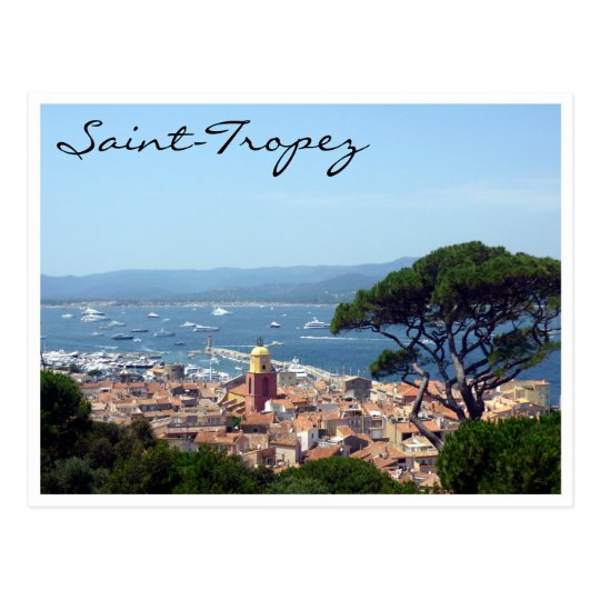 saint-tropez view postcard