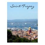 saint-tropez view up postcard