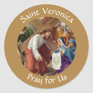 Saint Veronica Feast Day July 12 Classic Round Sticker