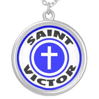 Saint Victor Round Pendant Necklace