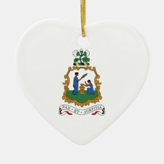 Saint Vincent and the Grenadines Coat of Arms Ceramic Ornament