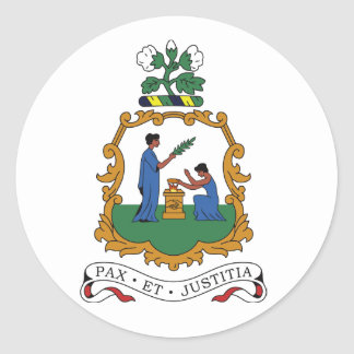 Saint Vincent and the Grenadines Coat of Arms Stickers