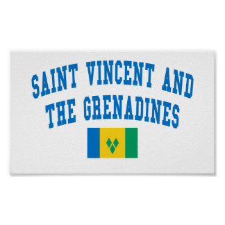 Saint Vincent and The Grenadines College Style Print