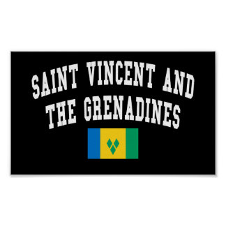 Saint Vincent and The Grenadines College Style Poster