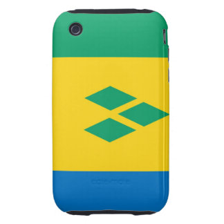 saint vincent and the grenadines country flag iPhone 3 tough cases
