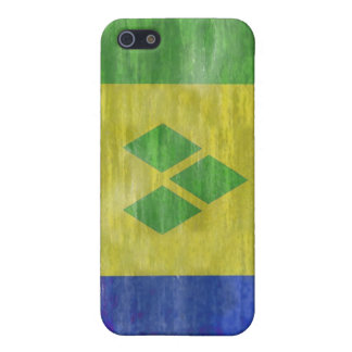 Saint Vincent and the Grenadines distressed flag Cases For iPhone 5