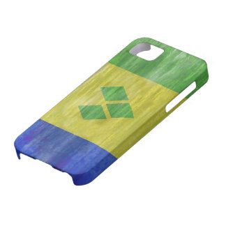 Saint Vincent and the Grenadines distressed flag iPhone 5 Cases