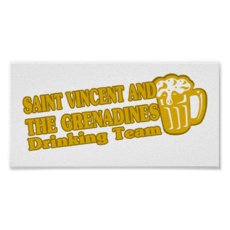 Saint Vincent and The Grenadines Drinking Team Posters