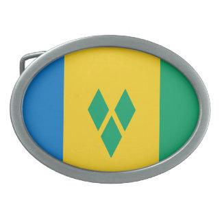Saint Vincent and the Grenadines Flag Belt Buckle