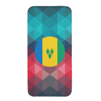 Saint Vincent and the Grenadines flag circle on mo iPhone 5 Pouch