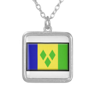 Saint Vincent and the GrenadinesFlag Custom Necklace