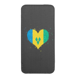 Saint Vincent and the Grenadines Flag Shining Uniq iPhone 5 Pouch