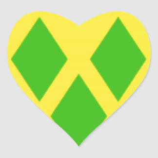 Saint Vincent and the GrenadinesFlag Heart Stickers