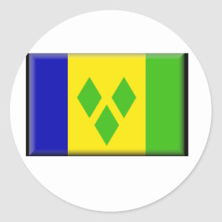 Saint Vincent and the GrenadinesFlag Round Stickers