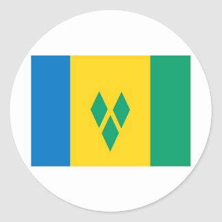 Saint Vincent and the Grenadines flag Round Sticker