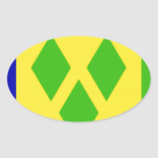 Saint Vincent and the GrenadinesFlag Oval Sticker
