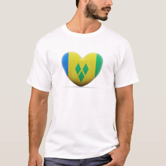 Saint Vincent and the Grenadines Heart Flag T-Shirt