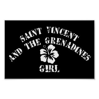 Saint Vincent and The Grenadines Pink Girl Print