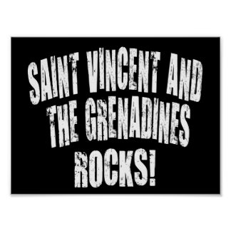 Saint Vincent and The Grenadines Rocks! Posters
