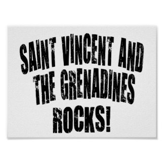 Saint Vincent and The Grenadines Rocks! Poster