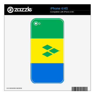 Saint Vincent and The Grenadines Skins For iPhone 4