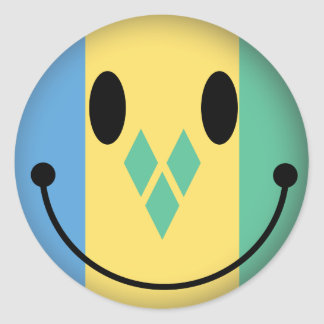 Saint Vincent and the Grenadines Smiley Stickers