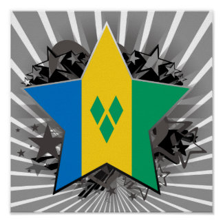 Saint Vincent and the Grenadines Star Posters