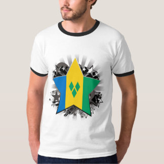 Saint Vincent and the Grenadines Star T-Shirt