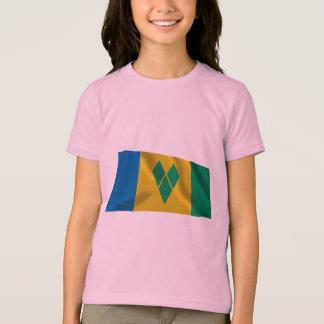 Saint Vincent and the Grenadines Waving Flag T-Shirt