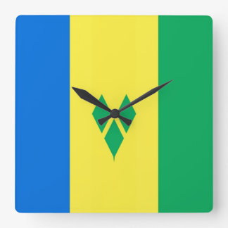 SAINT VINCENT ant the GRENADINES Square Wall Clock