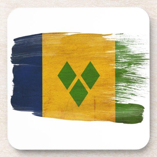 Saint Vincent Flag Drink Coaster