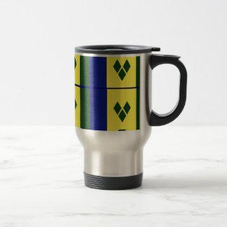 Saint vincent flag coffee mugs