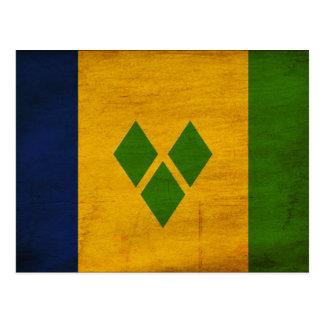 Saint Vincent Flag Postcard