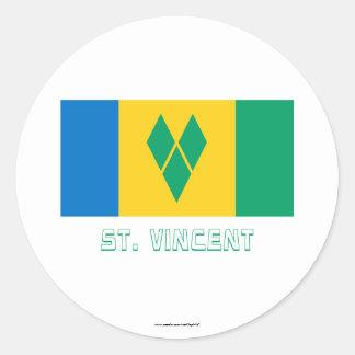 Saint Vincent Flag with Name Sticker