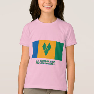 Saint Vincent Flag with Name T-Shirt