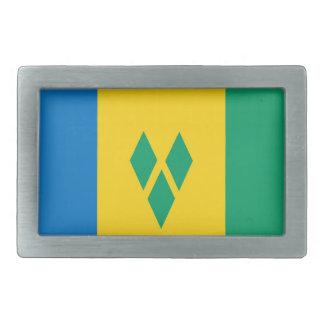 saint vincent grenadines country flag belt buckle