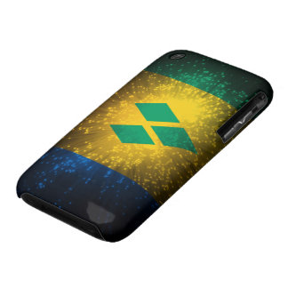 Saint Vincent; Grenadines Flag Firework iPhone 3 Cases