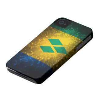 Saint Vincent; Grenadines Flag Firework iPhone 4 Case-Mate Case