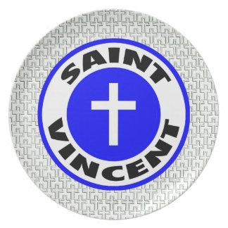Saint Vincent Melamine Plate