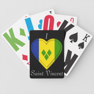 Saint Vincent & The Grenadines flag Bicycle Playing Cards