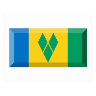 Saint Vincent & the Grenadines Flag Jewel Postcard