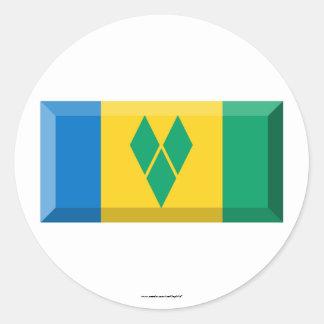 Saint Vincent the Grenadines Flag Jewel Stickers