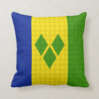Saint Vincent & The Grenadines flag Throw Pillow