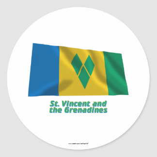 Saint Vincent Waving Flag with Name Stickers
