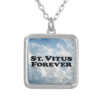 Saint Vitus Forever - Basic Square Pendant Necklace